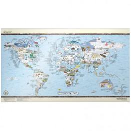 Carte Du Monde Snow Trip Map
