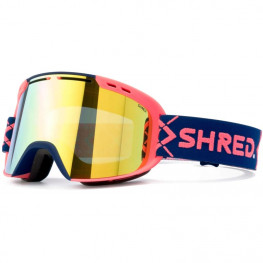 Masque Shred Simplify Bigshow Navy/rust - Hero + Sky Mirror