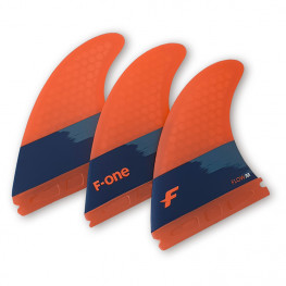 Set Ailerons F-one Thruster Set Flow M Papaya 2021